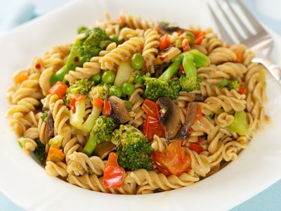 Fusilli Verde with Broccoli and Red Bell Pepper