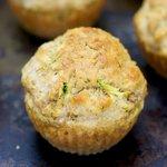 Carrot, Zucchini, Dill-Cheddar Muffins