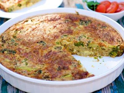 Impossible Garden Vegetable Pie
