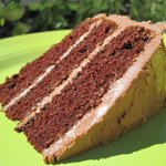 Black Magic Cake with Mocha Frosting