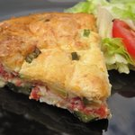 Zucchini Quiche with Tomatoes