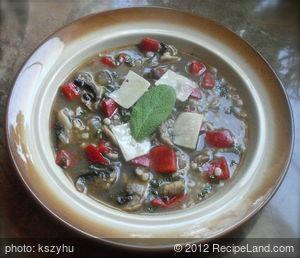 Sage Barley Mushroom Soup