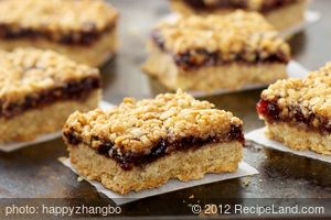 Oatmeal Raspberry Bar Cookies (Healthier Version)