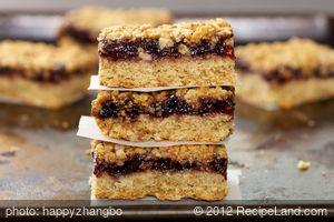 Oatmeal Raspberry Bar Cookies (Healthier Version)