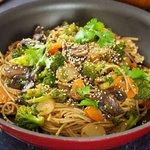 Sesame Broccoli Stir-Fry with Noodles
