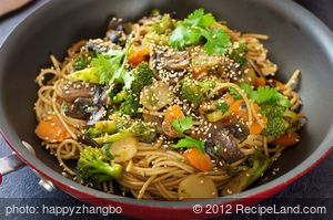 Sesame Broccoli Stir-Fry with Noodles