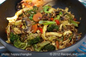 Fried Rice with Broccoli and Egg