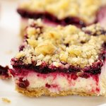 Whole Wheat Cherry Cream Cheese Bars