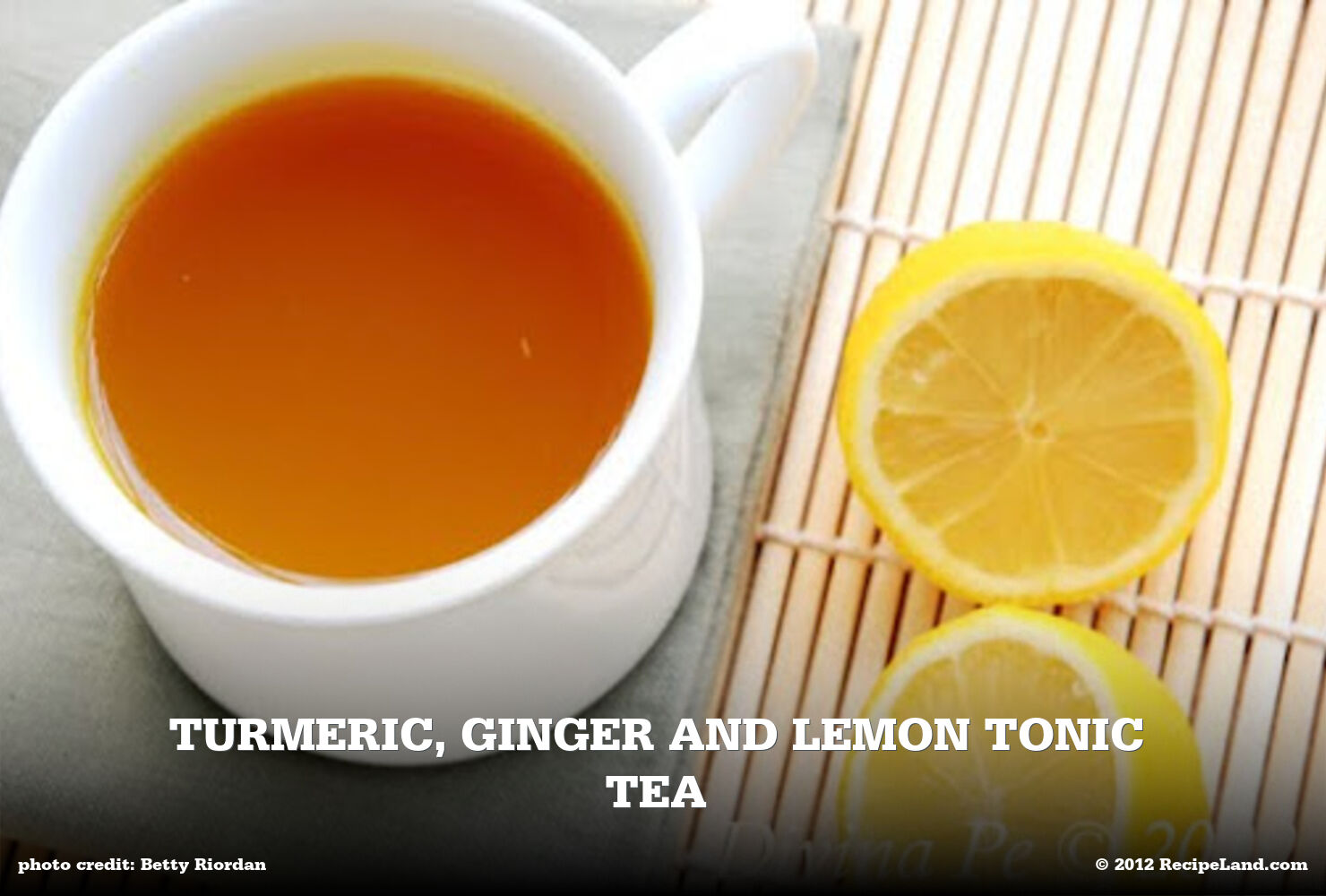 Turmeric, Lemon, Ginger tea tonic