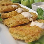 The Best Fried Green Tomatoes with Buttermilk Ranch Dipping Sauce