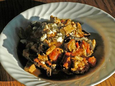 Tofu with Tomato and Mushroom Sauce