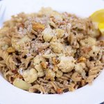 Roasted Cauliflower, Garlic and Toasted Walnuts with Pasta