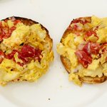 Roasted Red Pepper and Egg McMuffins for Two