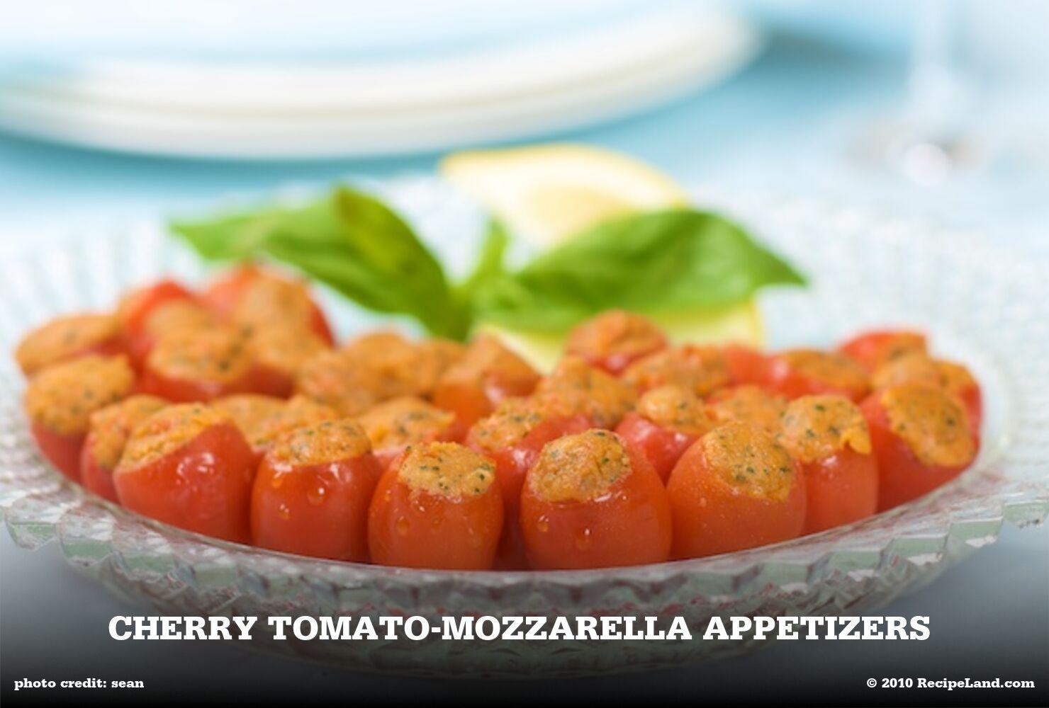 Cherry Tomato-Mozzarella Appetizers