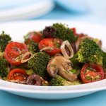 Marinated Broccoli, Mushroom, and Olive Salad