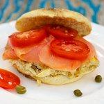 Egg and Salmon Sandwich
