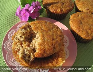 Banana Yogurt Nut Muffins
