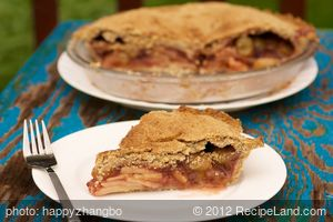 Apple Grape Berry Pie (Healthier Version)