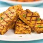 The grilled tofu without the yogurt sauce