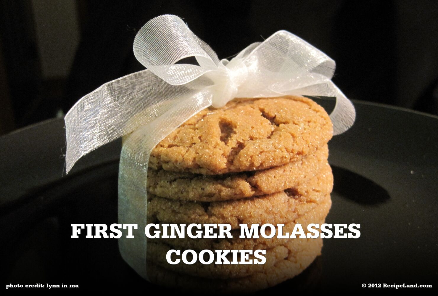 First Ginger Molasses Cookies