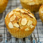 Whole Wheat Lemony Ricotta Muffins