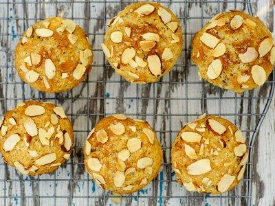 Whole Wheat Lemony Ricotta Muffins