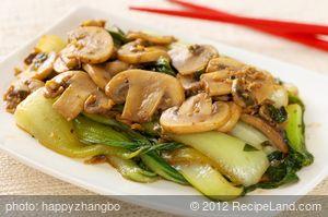 Bok Choy and Mushroom Stir-Fry