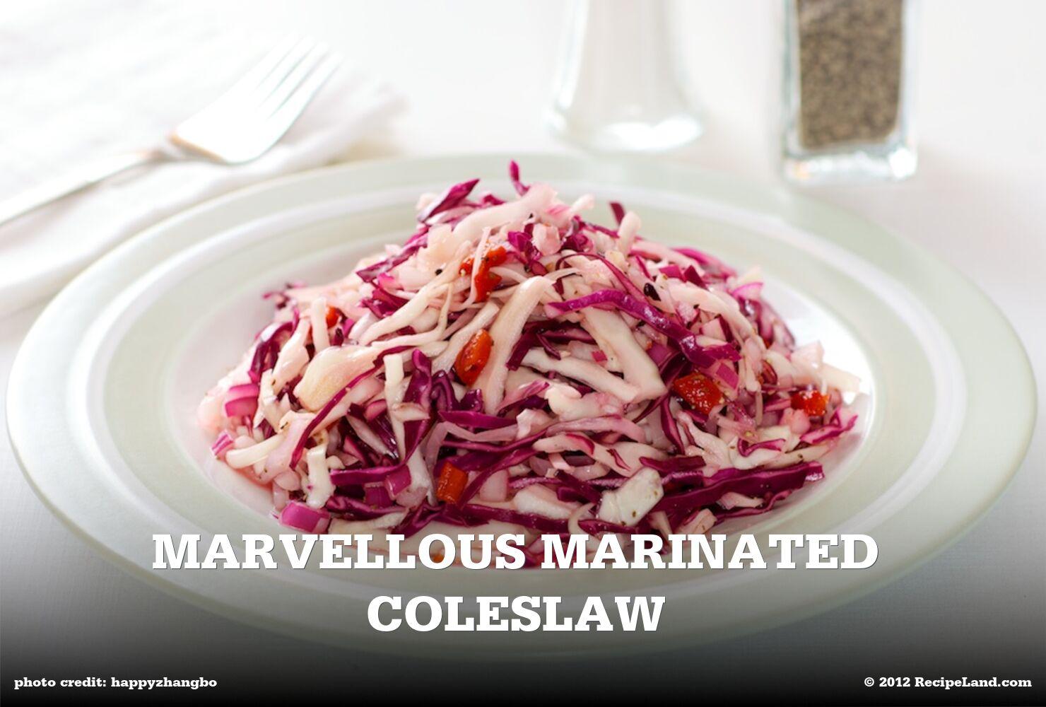 Marvellous Marinated Coleslaw