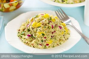 Mango, Jalapeno and Basil Quinoa Salad
