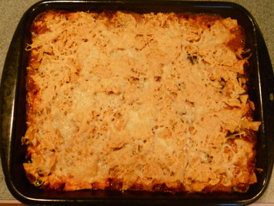 Saucy Mexican Chicken and Black Bean Casserole
