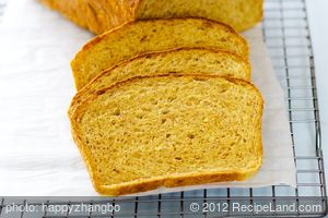 100% Whole Wheat Pumpkin Bread
