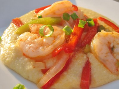 Sauteed Shrimp with Grits