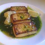 Broiled Tofu With Cilantro Pesto