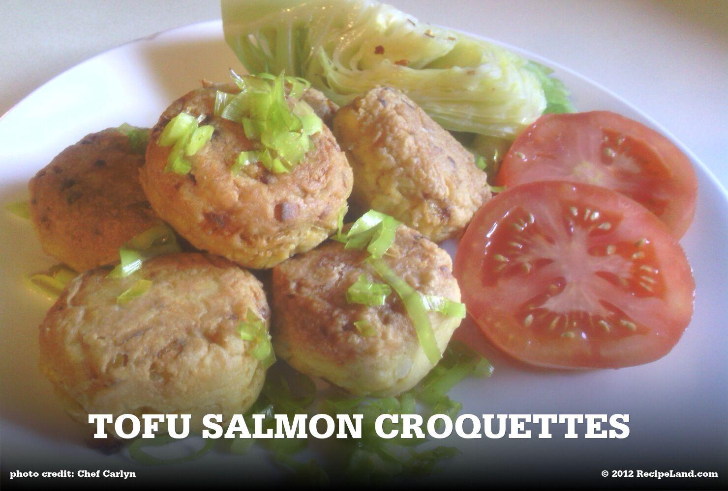 Tofu Salmon Croquettes