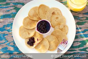 Swedish Pancakes with Berry-Cardamom Topping