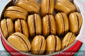 Coffee and Chocolate Ganache Macarons
