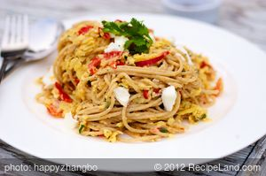 Creamy Sweet Potato and Red Pepper Pasta