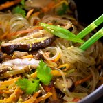 Shiitake and Sweet Potato Japchae