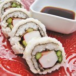 Crab and Asparagus Sushi Rolls
