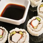 Crab and Asparagus Sushi Roll