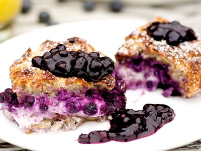 Blueberry French Toast (Low-fat)