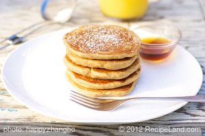Whole Wheat Pumpkin Pancakes for Two