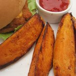 Spicy Baked Sweet Potato Steak Fries