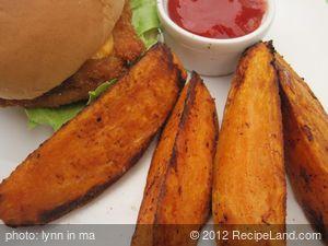 Spicy Baked Sweet Potato Steak Fries