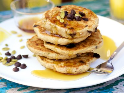 Double Pumpkin and Chocolate Chip Pancakes