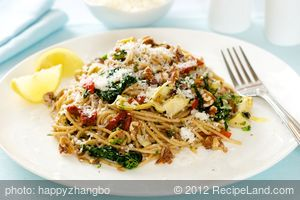 Mediterranean Spaghetti with Toasted Walnuts