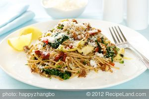 Mediterranean Spaghetti with Toasted Walnuts