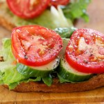 Tomato, Cucumber and Lettuce Sandwich