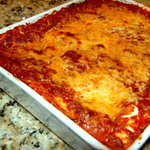 This is how the #1 Lasagna looks after I take it out of the oven........Mmmm!
