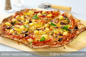 Pineapple, Olives and Artichoke Heart Pizza